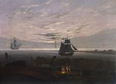 Wieczór nad Morzem Bałtyckim Caspar David Friedrich