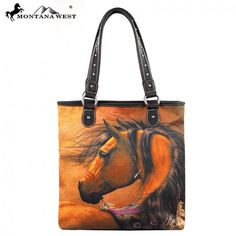 Looking Back Horse Montana West Tall Tote