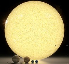 Our solar system to scale with artwork by Robert Zicher. ~via I fucking love science, FB