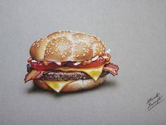 Marcello Barenghi: McDonald's McHeaton burger - drawing