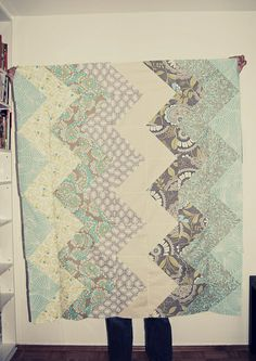 chevron quilt by happy_serendipity, via Flickr