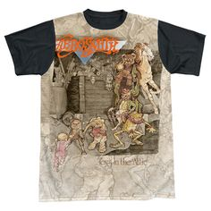 Mens Aerosmith Toys in the Attic Sublimation Tee Shirt - Thatsmyshirt.com - Super Colorful!