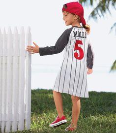 personalized baseball jersey dress - Chasing Fireflies