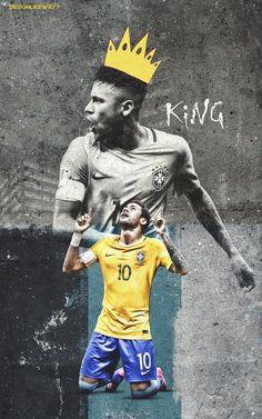 KING Neymar Jr, Neymar Football, Iran National Football Team, Football Posters, Cristiano Ronaldo, World Cup, Brazil, Snapchat, Soccer