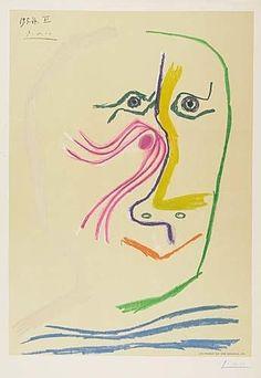 Pablo Picasso, Tribute to René Char, 1969