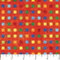Kids Rainbow Coordinates<br>Squares/Red 20186-23