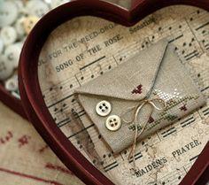 Fabric Valentine envelope