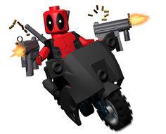 Lego Deadpool causing mayhem