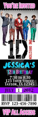 One Direction Invitation