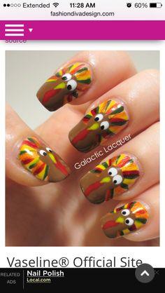 Thanksgiving nail art.