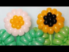 Ромашка Подсолнух из шаров / Daisy Sunflower of balloons - YouTube