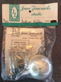 June Zimonick's Studio Ornament Kit 205 Arabian Nights Crystal Pearls Satin Ball | eBay