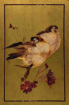 Beatrix Whistler: Two Finches, 1881