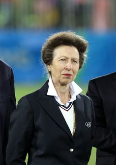 Princess Anne at the medal ceremony for Men's Rugby