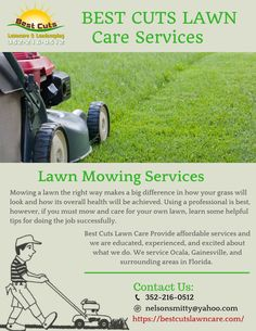 Best Cuts Lawn Care offers #residential and #commercial #lawn #services in #Ocala, FL. As per our work ethic & knowledge, we have the ability to make your ideas a reality!