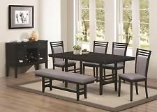 Lasalle 6 Piece Dining Set With Bench Coaster 104921 104922 104923