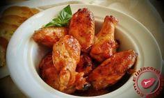 Alitas de pollo al horno con salsa de ketchup y miel - Elplacerdelacarne.com