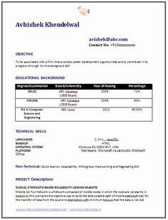 us Resume Computer Engineer Sample Sample Computer Science Resume
