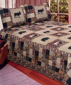 Love this Multicolor Moose Motif Quilt Set by American Hometex on #zulily! #zulilyfinds
