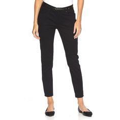 Women's Apt. 9® Curvy Fit Sateen Skinny Pants, Size: 12 T/L, Black