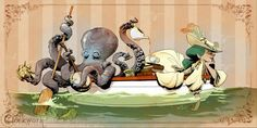 "Boat Ride for Otto"" art by Brian Kesinger - Otto and Victoria ..."