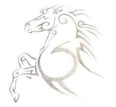 Horse Tribal Design