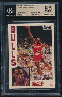 1992-93 Topps Archives #52 Michael Jordan BGS 9.5 #ChicagoBulls