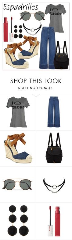 """""""casual look with espadrilles"""" by darcylee on Polyvore featuring Rachel Comey, Ivanka Trump, Marc Jacobs, Ray-Ban, Cara Accessories and Maybelline"""