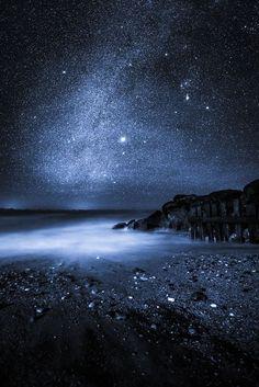Midnight Blue ... Steephill Cove, Isle of Wight, England