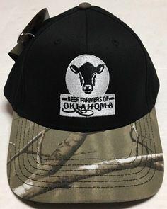 Beef Farmers Of Oklahoma Hat Ranching Cattle Cap Livestock Camo Hunting  Ranch OK  CapAmerica   b0f14f5df5a0