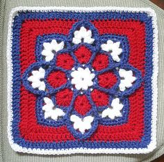 Ravelry: kitchenkoala's NY Giants Stained Glass Afghan Square