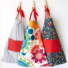 Kid's Apron Velcro Adjustable Cotton Flowers. £18.00, via Etsy.