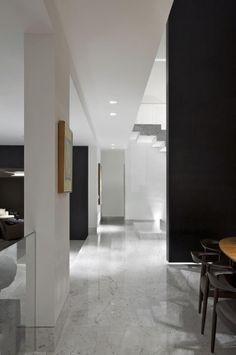 Pisos para sala de mármore Projeto de Gislene Lopes Family Room Design, Modern Minimal, Sala, Minimalism, Room Setup, Modern, Home Decor, Room, Room Design
