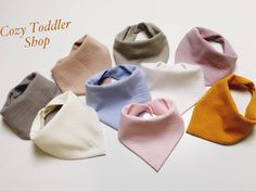 #bibs, #cotton #muslin #baby Cotton Muslin, Cotton Fabric, Baby Bibs Patterns, Bandana Styles, Natural Clothing, Baby List, Organic Baby Clothes, Bandana Bib, Baby Gear