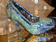 MOSAIC SHOE, Glass Slipper by MOSAICS for $85.00