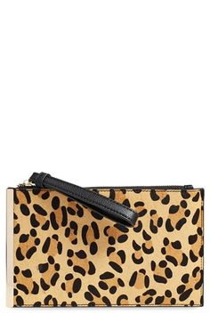 Street Level Genuine Calf Hair Clutch available at #Nordstrom