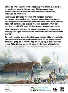 Inleiding over trans-Atlantische slavernij. Onderdeel van een expositie van FairWork over slavernij vroeger en nu.