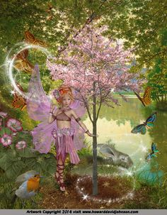 "The Fairy Paintings Art Gallery:The Celtic ""The Four Seasons"" Faerie Art of Howard David Johnson featuring Fairy Paintings, Fairy Drawings & Digital Fairy Art"