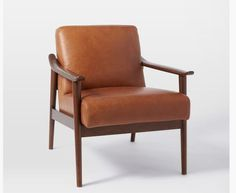 Mid-Century Leather Show Wood Chair | More Mid century, Woods and ...