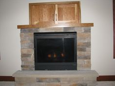 Gas fireplace stone hearth