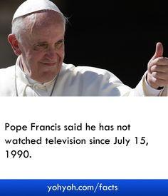 An Interesting Fact About Pope Francis