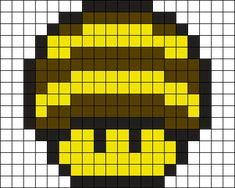Bee Mushroom Perler Bead Pattern