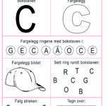 aktivitetsark for barn bokstaven c