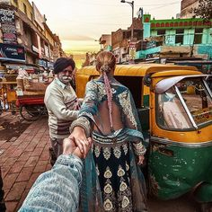 """""""#followmeto New Delhi with @natalyosmann. You wouldn't believe how many people are actually surrounding us during this shot. The driver was then almost…"""""""