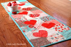 Little Lady Patchwork: HEARTS A FLUTTER TABLE RUNNER { A CHARM PACK TUTORIAL}