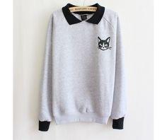 Cat sweatshirt sudadera gato wh176 hoodies and sweatshirts 6