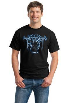 NIKOLA TESLA MAD SCIENTIST Adult Unisex T-shirt / Science Engineering Physics Nerd Geek Tee