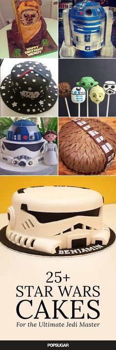 Celebrate your Star Wars-loving kid with a birthday cake that's out of this galaxy! Let these themed cakes inspire your child's Star Wars cake! Star Wars Party, Star Wars Birthday Cake, It's Your Birthday, Boy Birthday Cakes, Birthday Kids, Bolo Star Wars, Star Wars Food, Star Wars Kids, Aniversario Star Wars