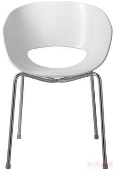 Chaise Eggshell Blanc