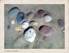 I simply can't go to the beach and not pick up rocks.... impossible!